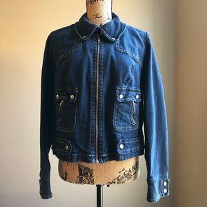 Lane Bryant Denim Zip Jacket